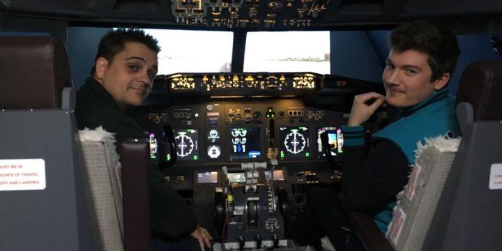 Pilotando en el simulador de Cinetic Plus